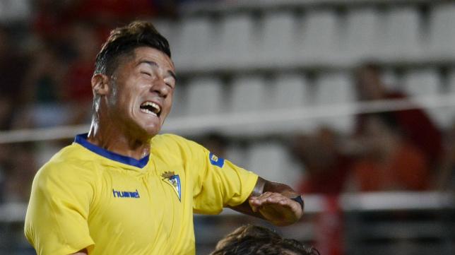 Hugo Rodríguez, en un lance del encuentro.