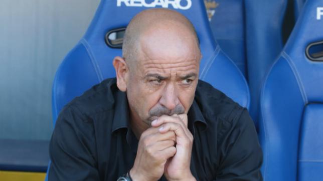 Claudio, en el banquillo de Carranza.