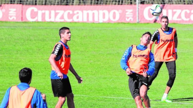 Garrido y Hugo en un entrenamiento