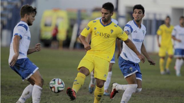 El Cádiz salvó un punto en Marbella el año pasado con un tanto de Airam Cabrera.