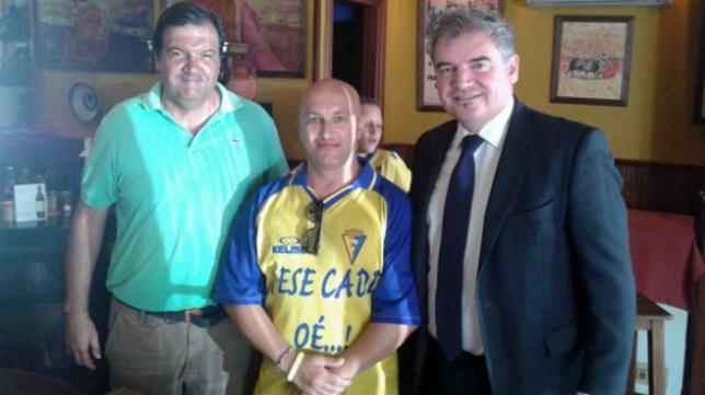 Fernando Arévalo, presidente de la FPC, Mariano Béjar y Manolo Vizcaíno (FOTO: FPC)