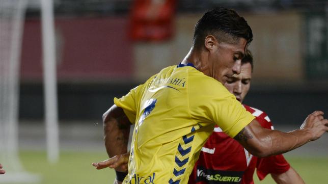 Hugo Rodríguez, fue clave con su gol ante el Murcia.