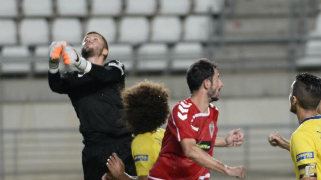 Pol Ballesté en el partido ante el Murcia de Copa del Rey