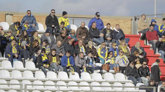 Aficionados cadistas en el Nuevo Mirador de Algeciras hace dos temporadas.