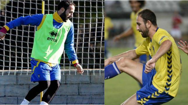 Andrés Sánchez y Juanjo, como jugadores del Cádiz CF