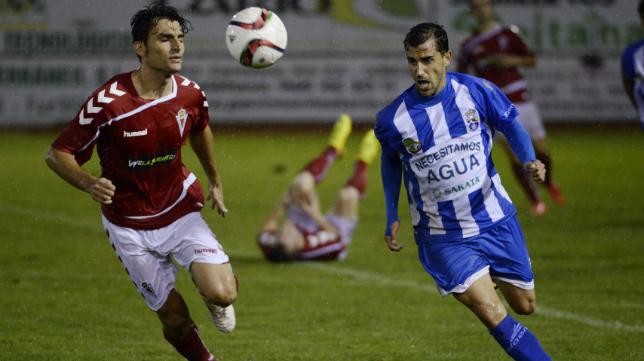 Imagen del partido de La Hoya ante el Real Murcia
