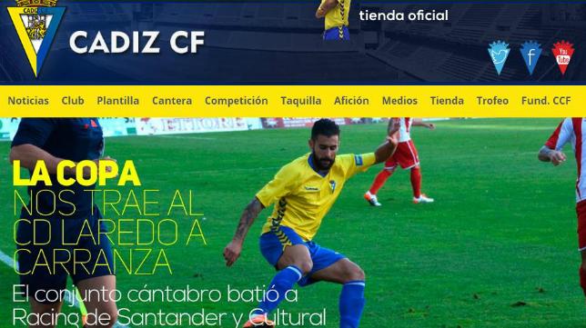 El partido se podrá ver a través de la web oficial del Cádiz CF.