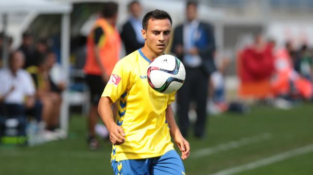 Álvaro García, durante el partido ante el cuadro lepero.