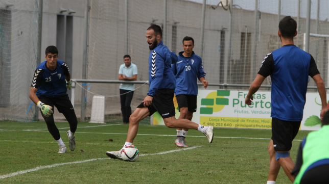 Andrés Sánchez, en un entrenamiento de la semana pasada.