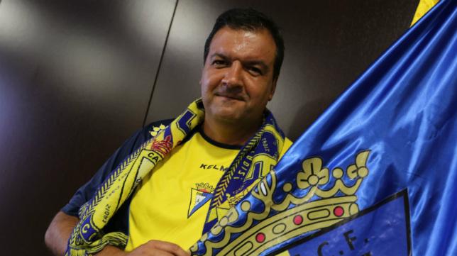 Fernando Arévalo, presidente de la Federación de las Peñas del Cádiz CF.