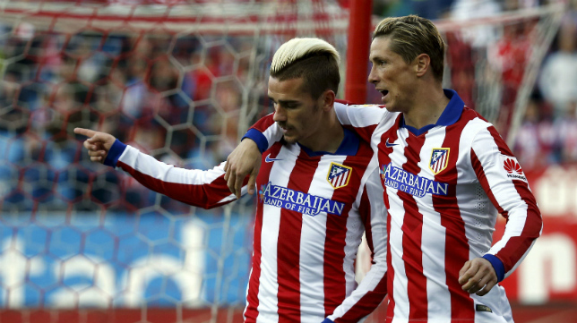 Griezmann, en la imagen junto a Torres, sí estuvo el año pasado en el Trofeo, pero no participará en el de este año.