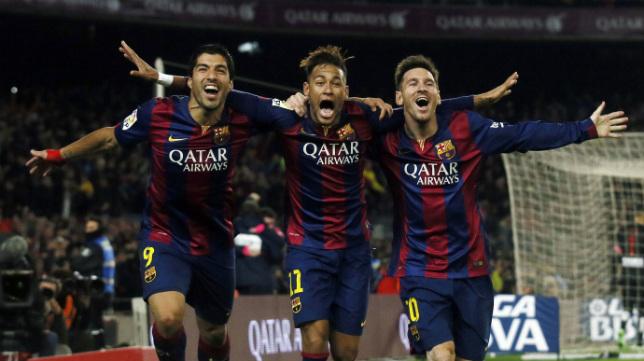 El tridente formado por Messi, Neymar y Suárez, la gran atracción.