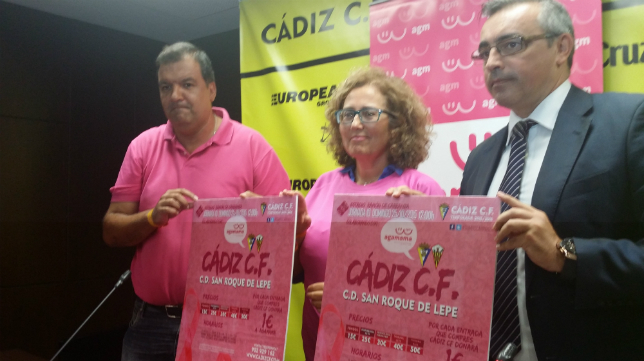 Cartel del partido Cádiz CF vs San Roque de Lepe