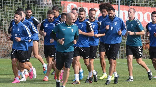 Claudio, durante un entrenamiento en El Rosal