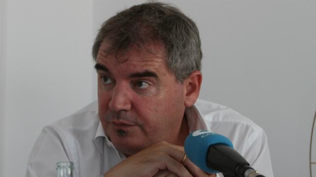 El presidente del Cádiz CF, Manuel Vizcaíno, el pasado martes en la tertulia de la cadena Cope.
