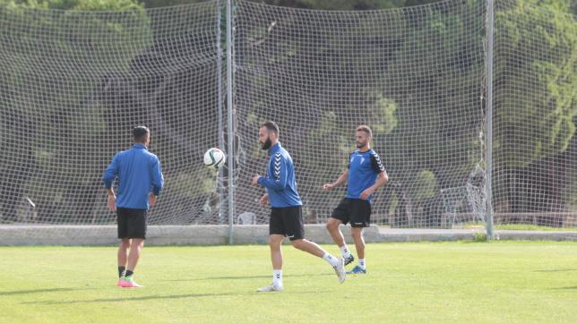 Andrés Sánchez se ejercita en El Rosal