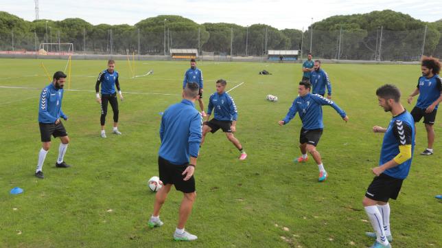 Imagen de un entrenamiento en El Rosal.