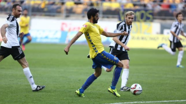 Güiza marcó el gol del Cádiz CF en el partido de ida celebrado en Carranza.