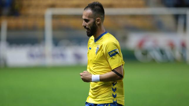 Andrés Sánchez en un partido con el Cádiz CF