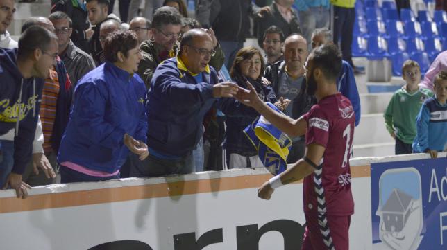 Andrés Sánchez se dirige al público asistente en Linarejos