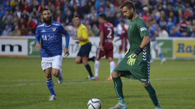 Cifuentes, en el partido ante el Linares.