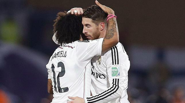Marcelo y Sergio Ramos en un partido del Real Madrid