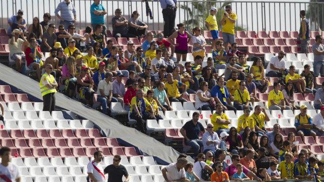 La afición del Cádiz CF, en el último desplazamiento.