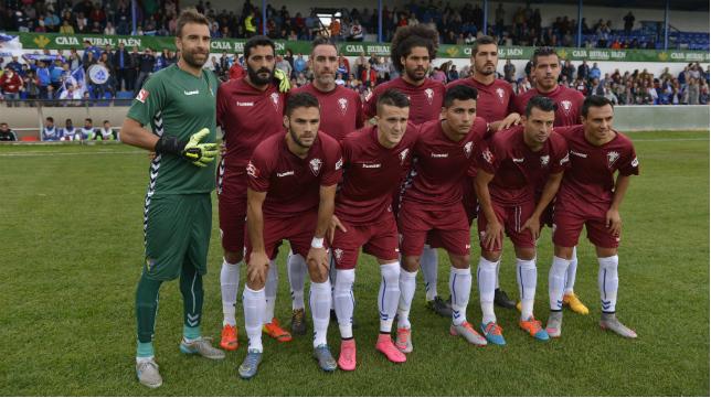 El once que presentó el Cádiz CF en Linares.