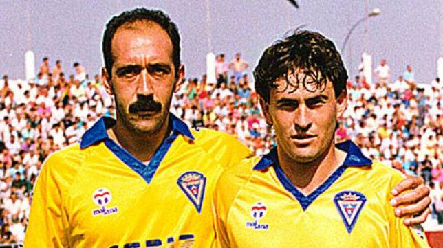 Carmelo y Cortijo, dos componentes de aquella mítica plantilla del Cádiz CF.