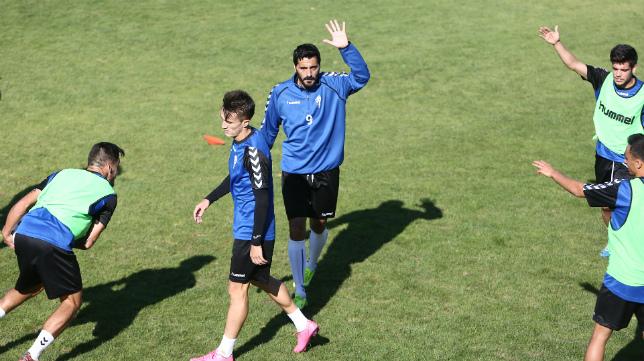 Dani Güiza en un entrenamiento