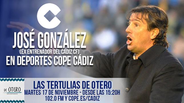 Jose González, exentrenador del Cádiz CF, fue el protagonista en COPE Cádiz