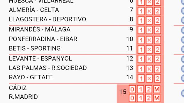 El Cádiz CF vuelve a la quiniela esta semana.