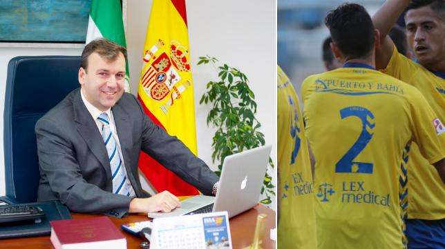 Rafael Fernández Bernal, propietario de Puerto y Bahía, que colabora con el Cádiz CF.
