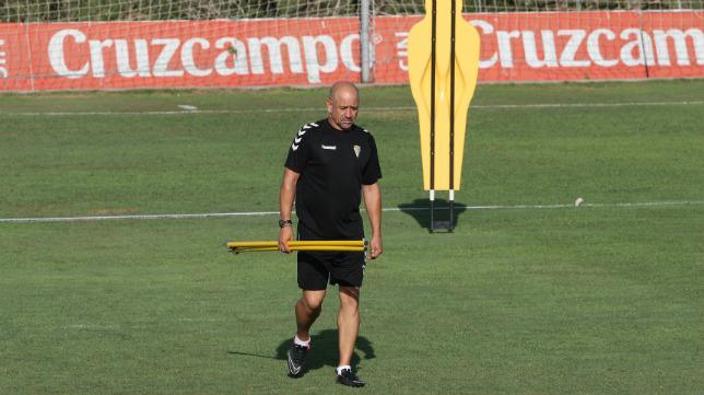 Claudio, durante un entrenamiento en El Rosal.