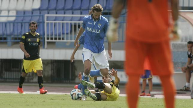 David Sánchez en un partido ante el Cádiz CF