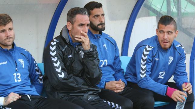 Abel Gómez junto a Güiza en su etapa como jugador del Cádiz CF.