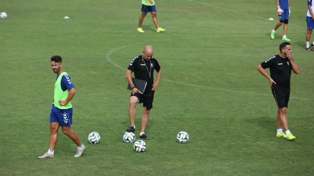 Claudio durante un entrenamiento