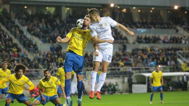 Imagen del partido disputado en Carranza entre el Cádiz y el Real Madrid.