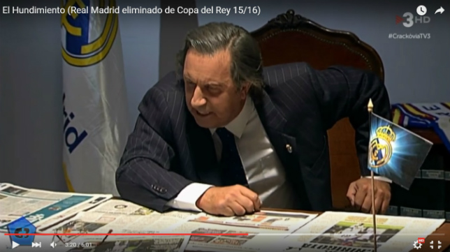 Florentino Pérez estalla tras ser eliminado de la Copa del Rey por el Cádiz.