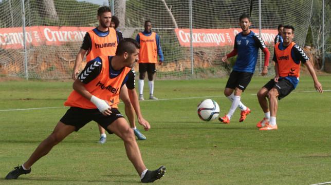 Garrido, en un entrenamiento.