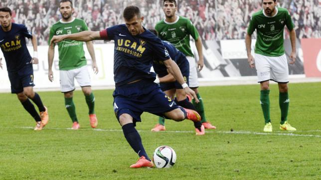 Góngora en un partido con el UCAM Murcia
