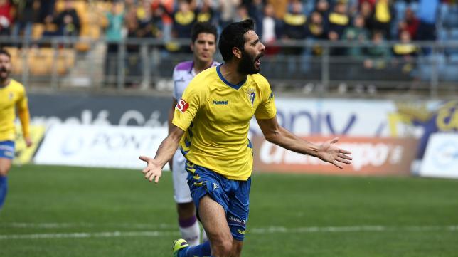 Güiza celebra su gol en Carranza
