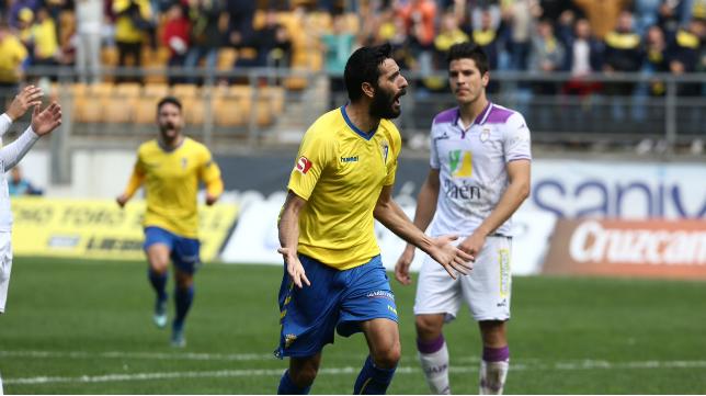 Dani Güiza celebra su gol ante el Jaén