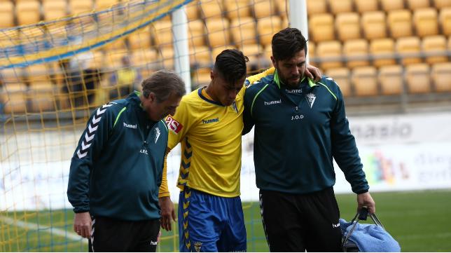 Hugo fue sustituido por lesión