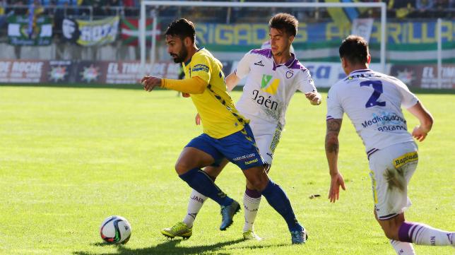 Kike Márquez, en su último partido de amarillo, este domingo ante el Jaén.