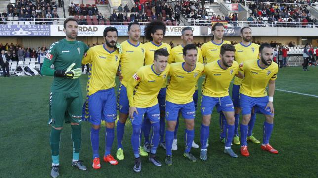 Once titular del Cádiz CF en Cartagena