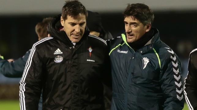 Berizzo, durante su etapa como entrenador del Celta, en la cita copera ante el Cádiz CF.
