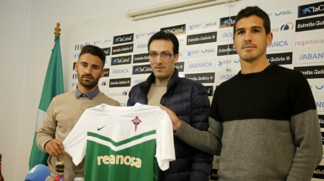 Kike Márquez y Garrido han sido presentados hoy como nuevos jugadores del Racing de Ferrol.
