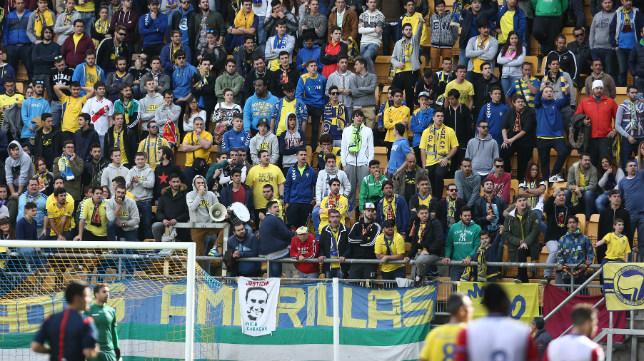 La afición en un partido del Cádiz CF en el Ramón de Carranza