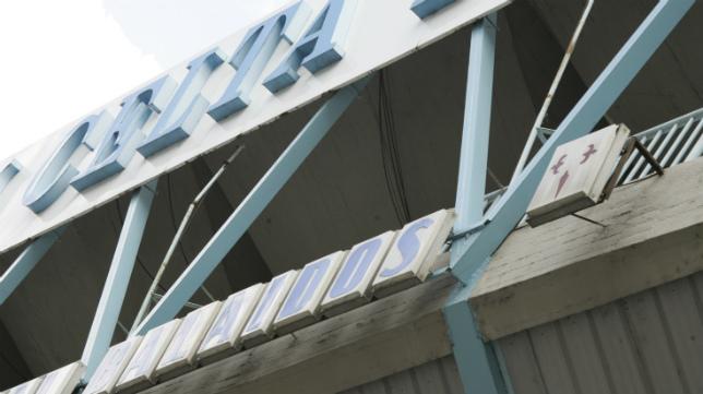 Fachada del estadio Municipal de Balaídos.